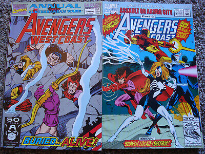 Avengers West Coast Annuals #6 ('91) & 7 ('92)/Marvel/Very Good Condition