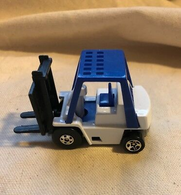 Vintage 1979 HOT WHEELS 1/64 Diecast Blue & White Fork Lift-China LN4-6C