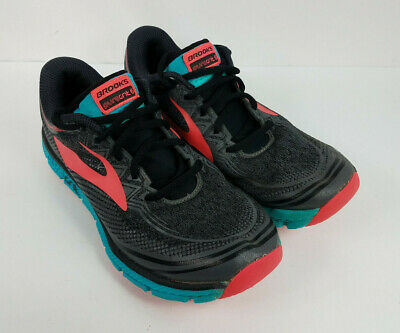50461a93df8 Brooks PureGrit 6 Womens Running Shoes Black Ebony Pink 1202481B014 Size 7.5