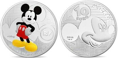 10 Euro France 2016 Be Dans Son Coffret D'origine - Mickey A Travers Les Ages