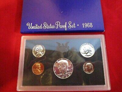 Lot of 5: 1968/69/70/71/72 U.S. Mint Proof Set, Orig Box (40% Silver $ 68/69)