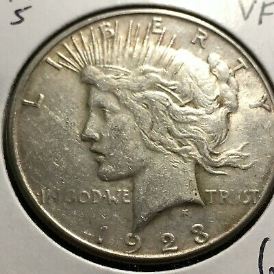 1923-S US. Peace Silver Dollar / VG
