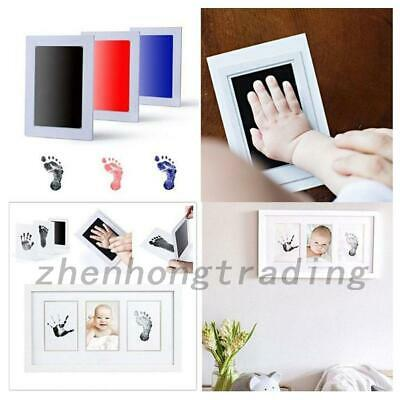 Newborn Baby Handprint Footprint Inkless Non-toxic Ink Pad for 0-6-Month Baby