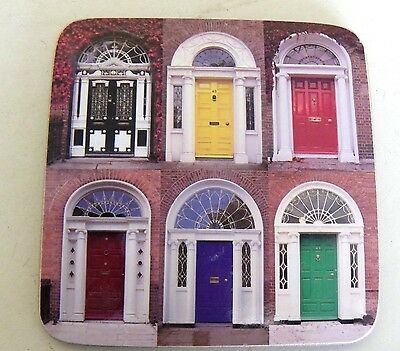 Set Of 4 Irish Doors Cork Coasters Ireland Dublin Georgian Doors