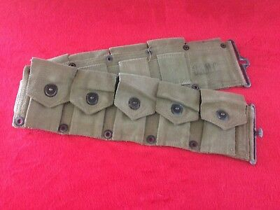 Original WW2 USMC Marine Corps M1 Garand M1923 Cartridge Ammo Belt Dated 1944