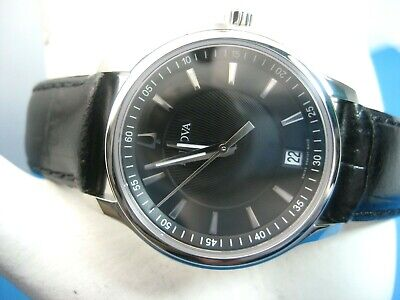 Bulova Swiss Made 63M101 Ladies Watch Sapphire Crystal & Black Dial Analog/ Date