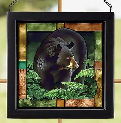 Black Bear Stained Glass Art by Bob Metropulos