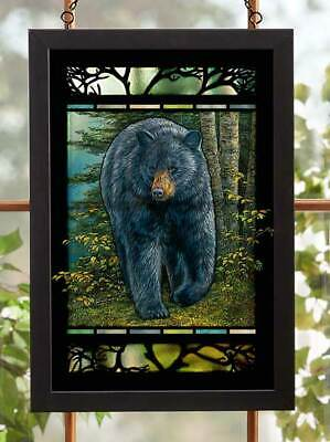 Rocky Outcrop - Bear Stained Glass Art by Rosemary Millette