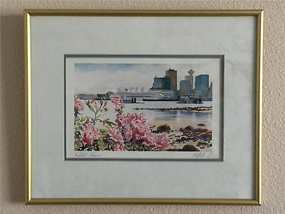 "Kiff Holland Matted and Framed ""Wild Roses"" With Original Signature"