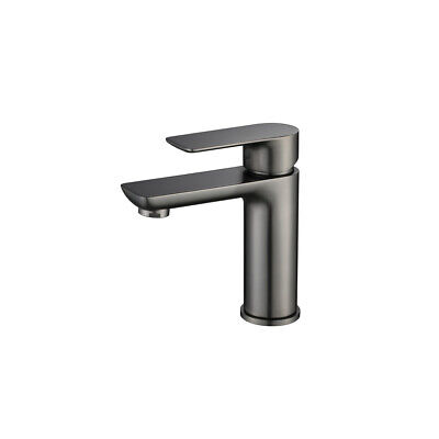 New Brushed Gunmetal KITCHEN Sink Basin TAP MIXER Short Tapware
