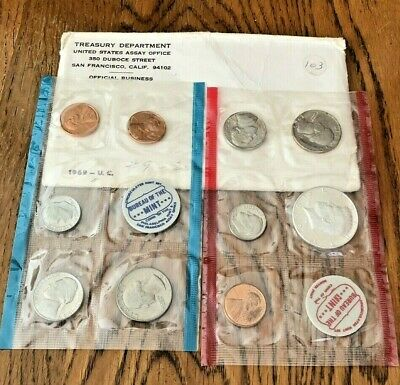 1969 United States MINT SET With The 40% Silver Kennedy Half Dollar!!