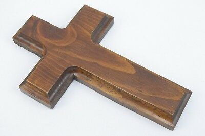 Old Rugged Cross Handmade Pine Wood 7x4.5in Wall Hanging Christian Crucifix 706
