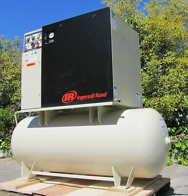 Ingersoll Rand 15 HP Rotary Screw Air Compressor UP6-15cTAS-125 Only 8510 hours