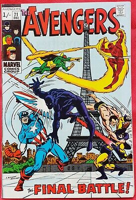 AVENGERS 71 Marvel Silver Age 1969 1st app of the Invaders as a team
