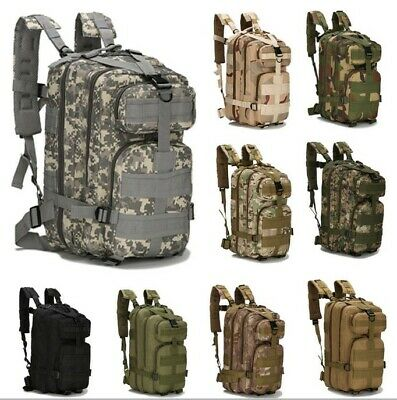 600d 3P Military Tactical Backpack Sport Bag F Camping Traveling Hiking 25L