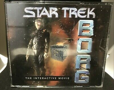 Star Trek: BORG The Interactive Movie PC Game 3 CD-Rom Set (Windows 95/MAC) 1996