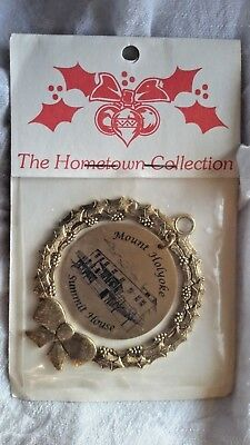 Mount Holyoke College Summit House South Hadley Ma Christmas Ornament Wreath New