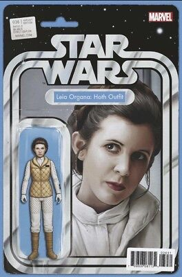 Star Wars #36 (2017) Leia Hoth Action Figure Variant, Christopher, Marvel, Nm