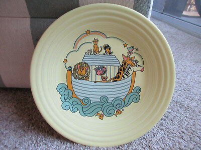 "Fiesta Ware Pale Yellow Child's 9"" Luncheon Plate Noah's Ark"