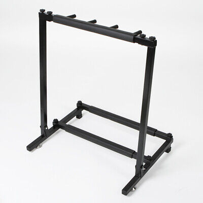 3 Guitar Rack Stand – Folding Three Multiple Stage Storage Bass Holder Mount DJ