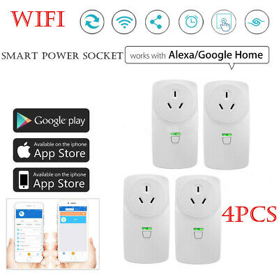 Up to 4pcs--Wireless Wifi Smart Power Socket Outlet Switch For ALEXA GOOGLE HOME