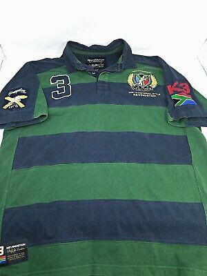 Mens Kevingston South Africa Rugby #4 Garroniers Polo Shirt Size 2XL embroidered