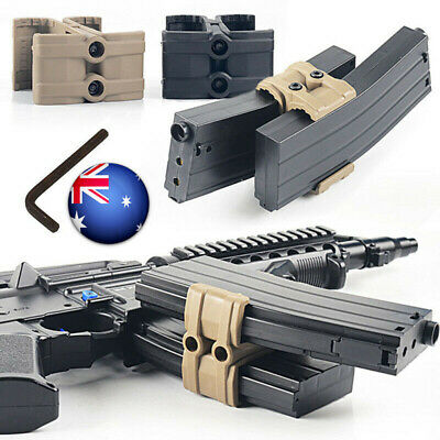 Tactical Magazine Coupler Parallel Connector Link Clamp Holder Mount For Rifle