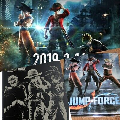 JUMP FORCE PlayStation 4 Top Cover Only Black Edition Steel book Sony Limited