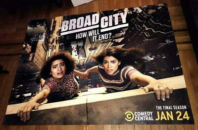 Broad City The Final Season Comedy Central 5Ft Subway Poster 2019