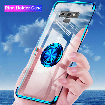 TPU Magnetic Ring Holder Stand Case Cover for Samsung Galaxy S10 Plus S10e A50