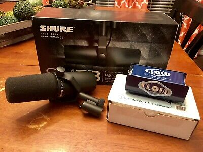 Shure SM7B Dynamic Wired Professional Microphone + Cloudlifter CL-1 Package