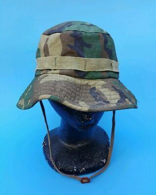 2a5e7db4690f Vintage Army Style String Camo Boonie Bucket Hat Cap Hunting Fishing Size  LARGE