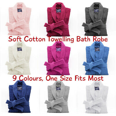 Super Soft 100% Egyptian Cotton Terry Bathrobe, 9 Colours, Hotel Quality!