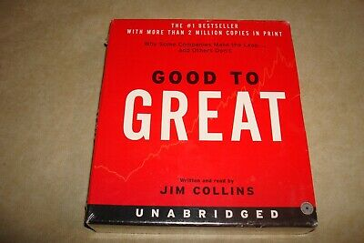 Good To Great CD Jim Collins Audio Book New Shrink Wrapped (8 CDs - 10 Hours)