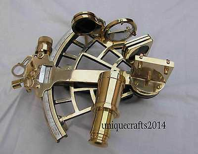 "Solid Shiny Brass Vintage Sextant 9"" Working Christmas Gift."