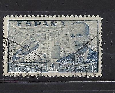 Spain - C108  -Used - 1939 -Juan La Cierva And Autogiro Over Madrid