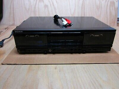 SONY TC-WR900 Stereo DUAL Cassette Deck SUPER BIAS *TESTED & WORKING*