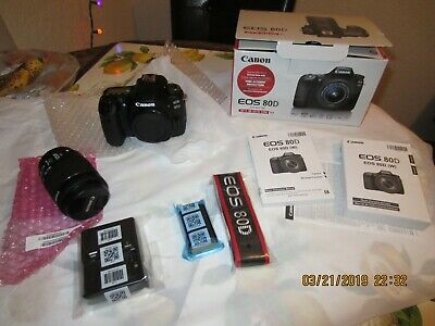Canon EOS 80D Digital SLR Camera with 18-55mm EF-S IS STM Lens USA Version!