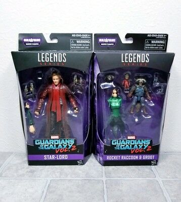NEW Star-Lord Rocket Raccoon Groot Marvel Legends Guardians Of The Galaxy Vol 2