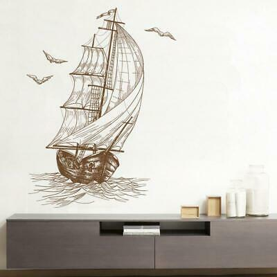 1pcs Creative Bedroom Living Room 40*60 CM Wall Sketch Stickers Sailing Pattern