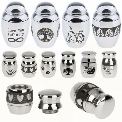 Steel Ashes Cremation Urn Funeral Keepsake Memorial Container Jar Pendant