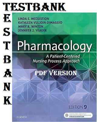 TESTBANK- Pharmacology A Patient Centered Nursing Process Approach (McCuistion)