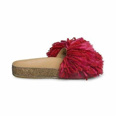 b74a4eff57d0 Ugg Cindi Ribbon Red Slide Yarn Fringe Womens Flip Flops Sandals Size Us  7.5 New