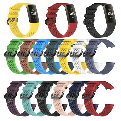 For Fitbit Charge 3 Replacement Silicone Band Strap Hole Wrist Watch Bands New
