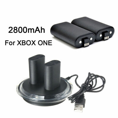 Controller Play Charging Cable + 2X Rechargeable Battery Pack For XBOX ONE USA
