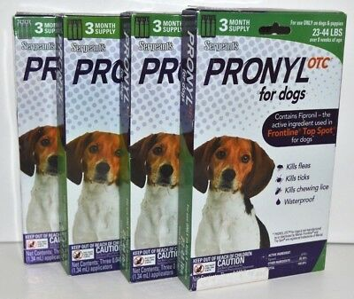 Sergeants Pronyl OTC for Dogs (22-44 lbs) 12 Month Supply (1 Year)  Brand New