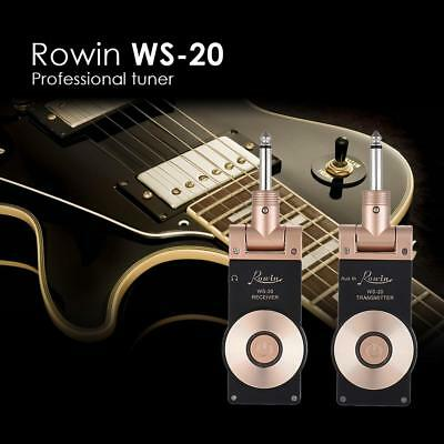 Rowin WS-20 Wireless Chargeable 2.4GHz Electric Guitar Transmitter Receiver Set#