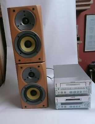 Sony MDS-SD1 Minidisc Deck & TC-SD1 Stereo Cassette Deck Speakers Remote Manuals