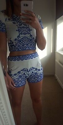 Size 4/6 Ladies 2 piece co-ord shorts/top set - Brand New