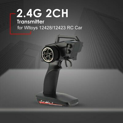 2.4G 2CH Transmitter Remote Control Radio Parts for Wltoys 12428/12423 RC Car To